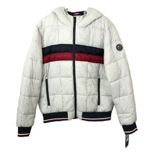Tommy Hilfiger puffer hooded colorblock